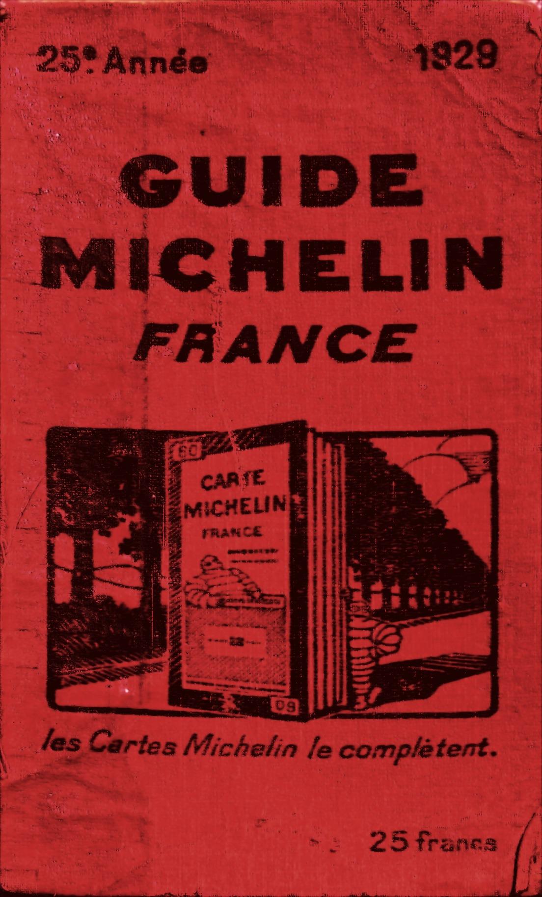 jedno z červených vydaní Guide Michelin - z roku 1929