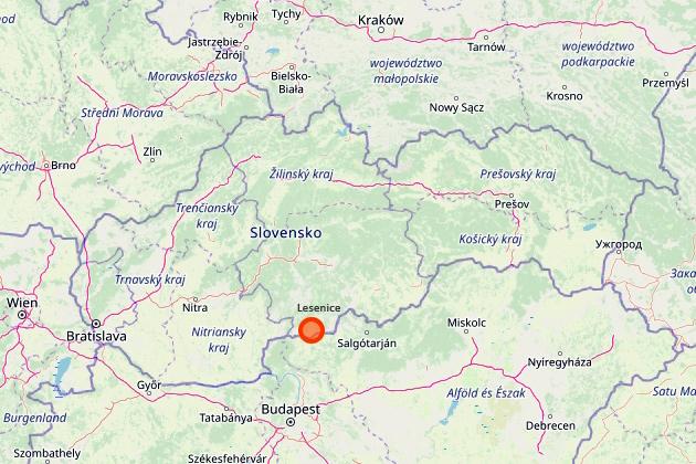 Lesenice na mape Slovenska