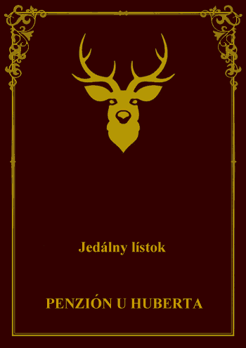 jedálny lístok - virtuálny obal slovenskej verzie