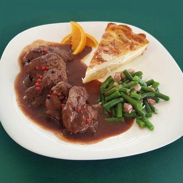 Penzión U Huberta - jedno z jedál svadobného menu, na objednávku