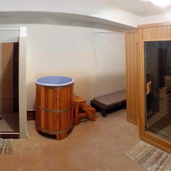 Penzión U Huberta - miestnosť so saunou - panoráma