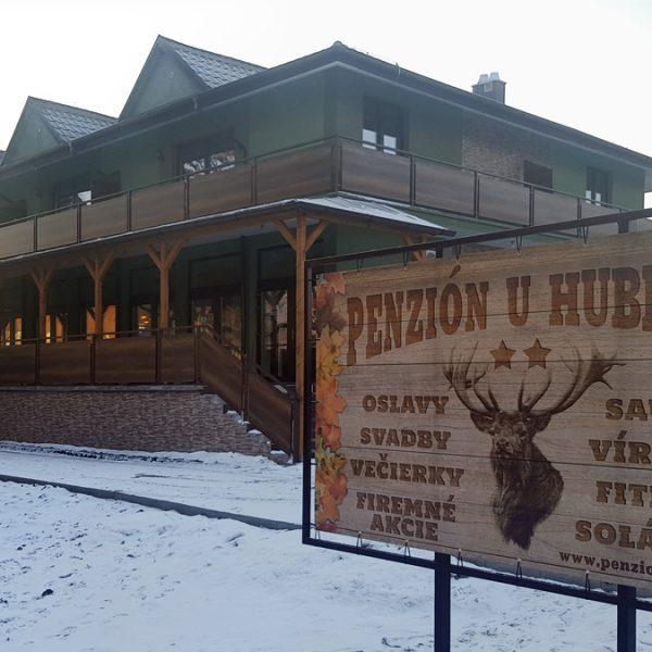 Penzión U Huberta - pohľad príchodzieho v zime