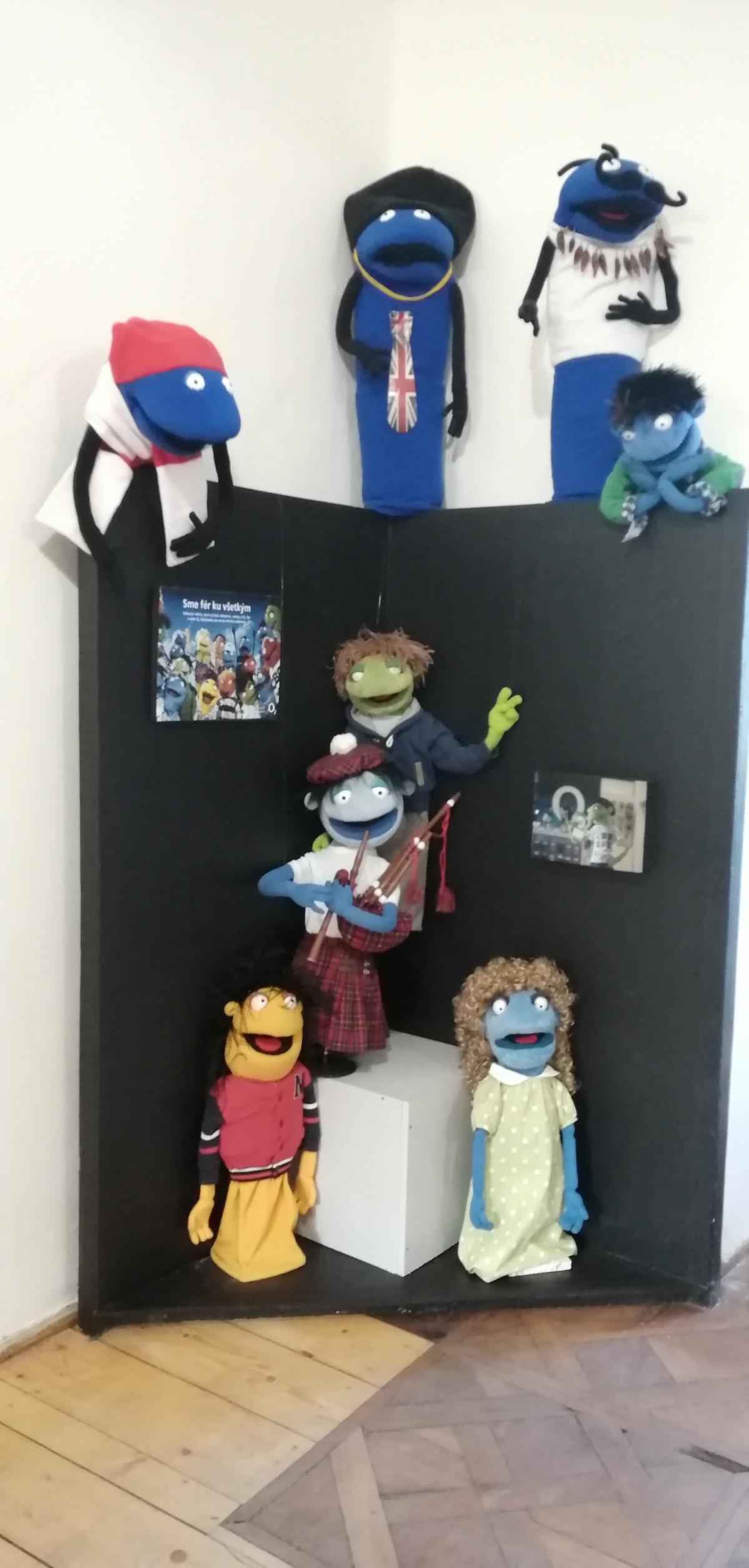 Modrý Kameň - Múzeum hračiek - postavičky známej Muppets Show