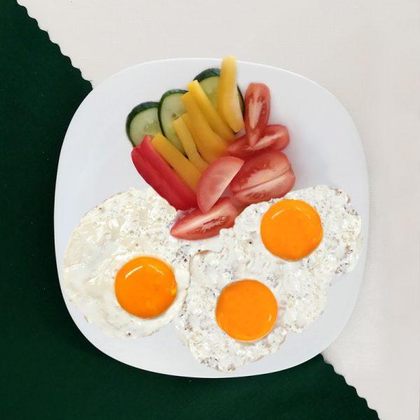 Raňajky - 3x volské oko